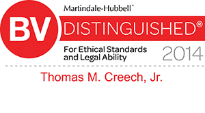 Martindale-Hubbell Very High rating in both legal ability and ethical standards
